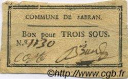 3 Sous FRANCE régionalisme et divers SABRAN 1792 Kc.30.072a TTB