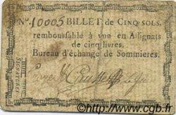 5 Sols FRANCE régionalisme et divers Sommieres 1792 Kc.30.084 TTB