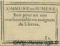 1 Sou FRANCE régionalisme et divers SUMENE 1792 Kc.30.086 SUP