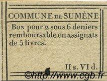 2 Sous 6 Deniers FRANCE régionalisme et divers SUMENE 1792 Kc.30.087 SUP