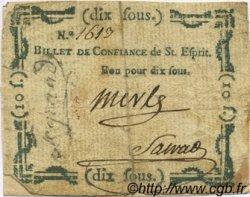 10 Sous FRANCE régionalisme et divers Pont Saint Esprit 1792 Kc.30.100 TB+