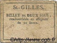 2 Sous FRANCE régionalisme et divers SAINT GILLES 1792 Kc.30.119 TTB
