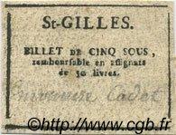 5 Sous FRANCE régionalisme et divers SAINT GILLES 1792 Kc.30.120a TTB