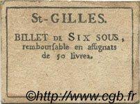 6 Sous FRANCE régionalisme et divers SAINT GILLES 1792 Kc.30.121 TTB+