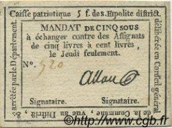 5 Sous FRANCE régionalisme et divers SAINT HIPOLITE 1792 Kc.30.127 TTB+