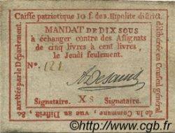 10 Sous FRANCE régionalisme et divers Saint Hipolite 1792 Kc.30.134 TTB