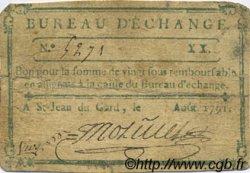 20 Sous FRANCE régionalisme et divers Saint Jean Du Gard 1791 Kc.30.136 TB