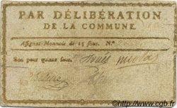 15 Sous FRANCE régionalisme et divers Uzes 1792 Kc.30.154b TTB