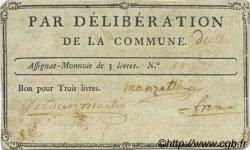 3 Livres FRANCE régionalisme et divers Uzes 1792 Kc.30.156a TTB