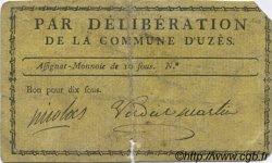 10 Sous FRANCE régionalisme et divers UZES 1792 Kc.30.158b pr.TB