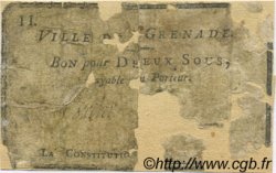 2 Sous FRANCE régionalisme et divers GRENADE 1792 Kc.31.068 AB