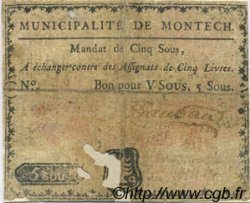 5 Sous FRANCE régionalisme et divers MONTECH 1792 Kc.31.100 B