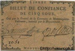 5 Sous FRANCE régionalisme et divers Montesquieu Volvestre 1792 Kc.31.104 TTB