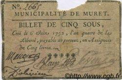 5 Sous FRANCE régionalisme et divers MURET 1792 Kc.31.111 TB