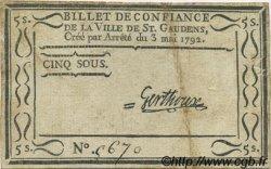 5 Sous FRANCE régionalisme et divers Saint Gaudens 1792 Kc.31.133 TTB+