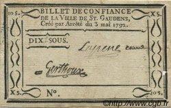 10 Sous FRANCE régionalisme et divers Saint Gaudens 1792 Kc.31.134 TTB+