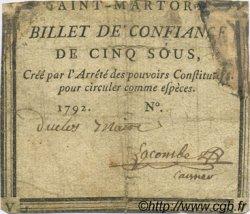 5 Sous FRANCE régionalisme et divers Saint Martory 1792 Kc.31.145b B+