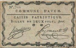 2 Sols FRANCE régionalisme et divers AUCH 1792 Kc.32.001 SUP