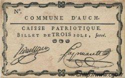3 Sols FRANCE régionalisme et divers AUCH 1792 Kc.32.002 SUP