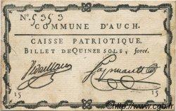 15 Sols FRANCE régionalisme et divers Auch 1792 Kc.32.005 SUP