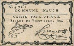 20 Sols FRANCE régionalisme et divers Auch 1792 Kc.32.006 SUP