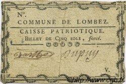 5 Sols FRANCE régionalisme et divers LOMBEZ 1792 Kc.32.067c TTB