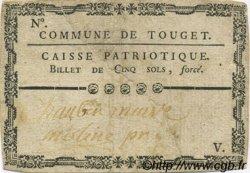 5 Sols FRANCE régionalisme et divers TOUGET 1792 Kc.32.120 TTB