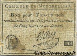 3 Sols FRANCE régionalisme et divers MONTPELLIER 1792 Kc.34.128 TTB
