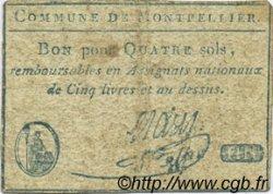 4 Sols FRANCE régionalisme et divers MONTPELLIER 1792 Kc.34.129 TTB