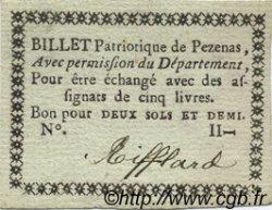 2,5 Sols FRANCE régionalisme et divers Pezenas 1792 Kc.34.155 SUP