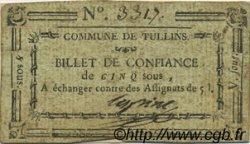 5 Sous FRANCE régionalisme et divers TULLINS 1792 Kc.38.046b TTB