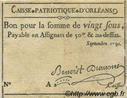 20 Sous FRANCE régionalisme et divers ORLEANS 1791 Kc.45.031 TTB