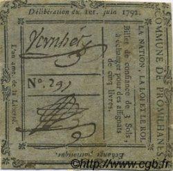 3 Sols FRANCE régionalisme et divers PROMILHANES 1792 Kc.46.104 TTB