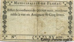 15 Sous FRANCE régionalisme et divers Florac 1792 Kc.48.036 TB