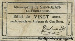 20 Sous FRANCE régionalisme et divers Saint Jean La Fouillouse 1792 Kc.48.116a TTB