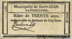 30 Sous FRANCE régionalisme et divers SAINT JEAN LA FOUILLOUSE 1792 Kc.48.118b TTB
