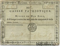 10 Sols FRANCE régionalisme et divers Reims 1791 Kc.51.006h TB