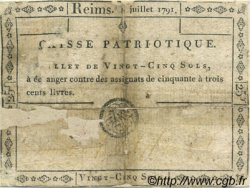 25 Sols FRANCE régionalisme et divers Reims 1791 Kc.51.008 (ou 14) B