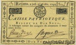 10 Sous FRANCE régionalisme et divers Reims 1791 Kc.51.012 TTB