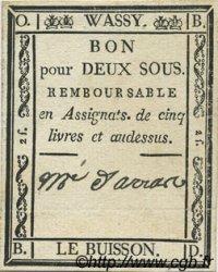 2 Sous FRANCE régionalisme et divers WASSY 1792 Kc.52.078 SUP