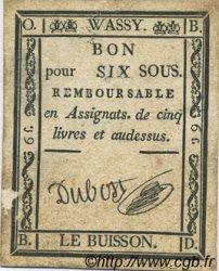 6 Sous FRANCE régionalisme et divers WASSY 1792 Kc.52.082 TTB