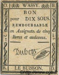 10 Sous FRANCE régionalisme et divers WASSY 1792 Kc.52.084 TTB