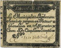 3 Livres FRANCE régionalisme et divers LAVAL 1791 Kc.53.009b TB