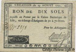 10 Sols FRANCE régionalisme et divers LILLE 1791 Kc.59.059 TTB