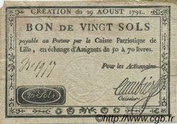 20 Sols FRANCE régionalisme et divers LILLE 1791 Kc.59.060 TTB