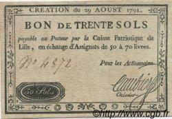 30 Sols FRANCE régionalisme et divers LILLE 1791 Kc.59.061 TTB