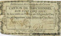 5 Sous FRANCE régionalisme et divers MARCHIENNES 1792 Kc.59.067 B+