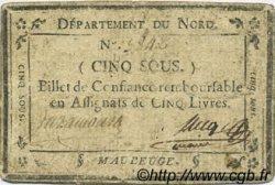 5 Sous FRANCE régionalisme et divers MAUBEUGE 1792 Kc.59.076c TB+