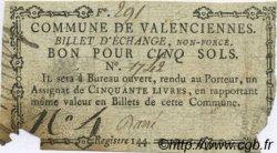 5 Sols FRANCE régionalisme et divers Valenciennes 1792 Kc.59.110b TB