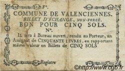 5 Sols FRANCE régionalisme et divers VALENCIENNES 1792 Kc.59.110i TB+